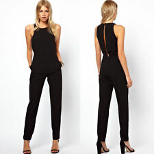 Summer Womens Sexy Open Back Playsuit One-Piece Jumpsuit Romper Pants Trousers