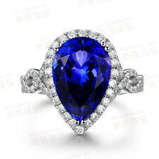 Pear cut 5ct Sapphire cz White Gold Filled Engagement Wedding Ring Sz 5-11 Gift