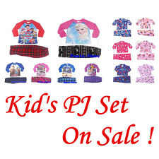 Girl's Boy's Kid's Long Sleeve Winter Pyjamas Pajamas PJ Nightie PJs Set Sz