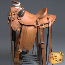 WD60 HILASON BIG KING SERIES WESTERN WADE RANCH ROPING COWBOY SADDLE 15 16 17 18