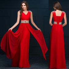 CHEAP Long Prom Dresses Bridesmaid Formal Party Wedding Ball Gown Evening Dress