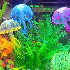 ARTIFICIAL GLOWING EFFECT FISH TANK Water DECORATION AQUARIUM JELLYFISH ORNAMENT
