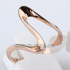 A1-R135 Fashion No Stone Band Ring 18KGP Size 5.5-9