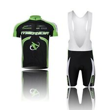 Men Team Summer Cycling Jersey +(Bib) Shorts Breathable Bike Bicycle Suit S-4XL