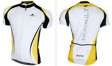 Yellow Cycling outdoor sports Jersey Quick Dry Breathable Clothing Bike  M-2XL