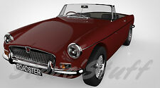 MGB Roadster - Personalised Animated GIF & Wallpaper - Your Reg/Colour