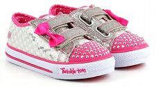 New Girl's Skechers 10284N Twinkle Toes Shuffles Sweet Steps Light Up Shoes (E5)