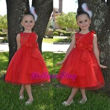 Beaded Shawl Occasion Dress Wedding Flower Girl Pageant Party Size 18m-8 FG275
