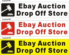 2ftX8ft Custom Printed Ebay Auction Drop Off Store Banner Sign