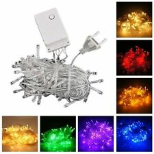 110V-220V Electric 10M/20M 100/200LED Bulbs Christmas Fairy Party String Lights
