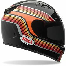 Bell Motorcycle Helmet Vortex Band Black Orange Full Face