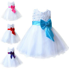 New Dresses Flower Girl Kid Wedding Princess Pageant Bridesmaid Party Communion