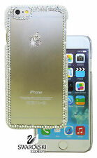 Stripe Frame Swarovski Clear Crystal Back Case Cover For iPhone6s/iPhone6s Plus