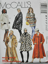 McCalls Sewing Pattern # 6717 Misses Lined or Unlined Coat 3 Lengths Choose Size