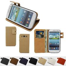Leather Wallet Flip Case Cover LCD Screen Protector For Samsung Galaxy S3 i9300