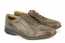 Mens JOHNSTON & MURPHY Size 11 M Brown Leather Oxford Lace Up Shoes Dress Casual