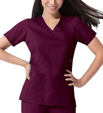 Scrub Dickies Gen Flex Youtility Mock Wrap Top 817355 Wine FREE SHIPPING
