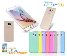 Ultra-Thin Crystal Coloured Clear Soft Transparent Case Cover Samsung Galaxy S6