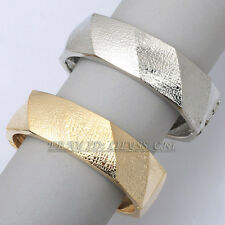 Fashion Hinged 18KGP Bracelet Bangle Cuff