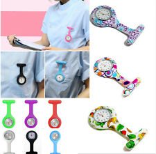 Nurses Medical Tunic Pocket Brooch Fob Watch Color Design Silicone Watches New