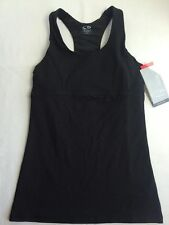 C9 CHAMPION Athletic Fitness BLACK & GRAY Racer-Back FITTED Tank Top w/ Bra XS