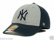 NEW YORK YANKEES MLB FITTED VIP FRANCHISE NAVY BLUE/GRAY HAT/CAP '47 BRAND NWT
