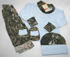 MOSSY OAK CAMO 4PC BABY INFANT SET - BLUE & CAMOUFLAGE