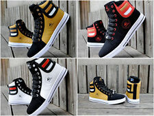New 2015 Men's Fashion Leather Athletic Casual High Top Sneakers Men Shoes T67