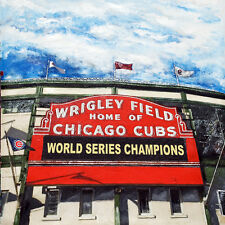 Wrigley Field - Print - Chicago Cubs -World Series Champions