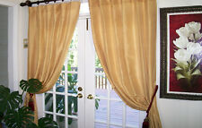 2  panels 100% silk dupioni drapes of curtain, 84x50