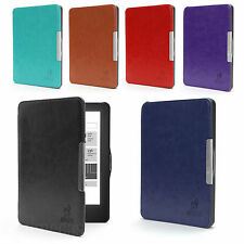 ULTRA THIN HARD SMART LEATHER CASE COVER WITH WAKE/SLEEP SUPPORT FOR KOBO GLO