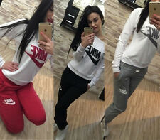 New Women Leisure Thick Athletic Tracksuit Sweat Suit Running Fitness Sportwear