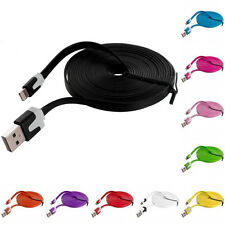 HOT 9Ft/3M Flat Noodle USB Charger Sync Data Cable Cord for iPhone 4 4S 4G