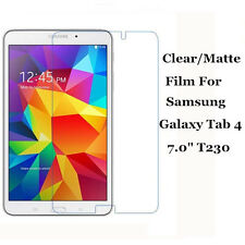 """Clear/Matte Screen Protector Film Guard Lot For Samsung Galaxy Tab 4 7.0"""" T230"""
