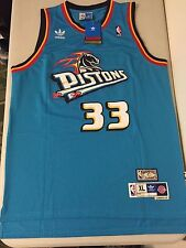 Grant Hill Detroit Pistons Throwback NBA Jersey Nike Adidas #33 Aqua Blue