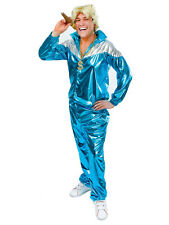 Mens Ladies Adult Retro 80s 90s Shell Suit Tracksuit Chav Fancy Dress Costume
