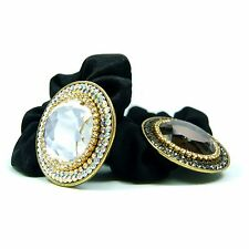 Big Crystal Rhinestone Scrunchie Ponytail Holder Hair Jewelry Tie Band Rope Gift