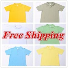Boys Girls Kids Short Sleeve Mesh School Uniform Polo T-shirt Sz Wear Summer