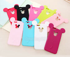 3D Cartoon Cute Lovely Soft Silicone Cover Phone Case for iPhone 5s 6s 7 plus