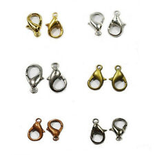 Wholesale Golden Silver Plated Lobster Clasps Hooks Jewelry Findings 10/12/14mm