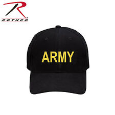 9285 Rothco Black Army Low Profile Cap - Black