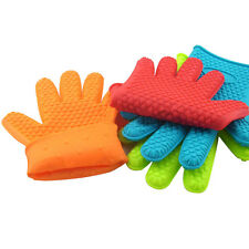 Kitchen  Silicone Glove Oven Pot Holder Baking BBQ Cooking Mitts  Heat Resistant
