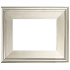"""NEW 3"""" WIDE CLASSIC MODERN PHOTO PICTURE PAINT FRAME PLEIN AIR WOOD SILVER LEAF"""
