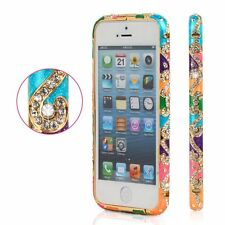 S*ACT Diamond Crystal Bling Aluminum Metal Bumper Hard Case Cover for Iphone 5s
