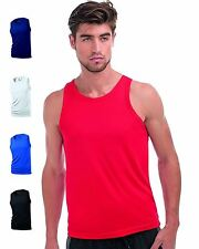 Hanes Mens Sports Vest Cool Dri Wicking Breathable Gym Exercise Fitness Tank Top