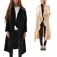 Womens Ladies Waterfall Long Sleeve Fallaway Open Cape Tops Cardigan Jacket Coat