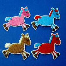 2 Horse Pony Iron Sew on Patch Cute Applique Badge Embroidered Biker Animal Cute