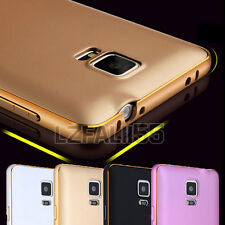 Luxury Ultra-thin Aluminium Metal Bumper Hard Back Case Cover For iPhone Samsung