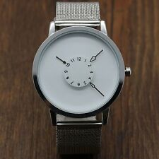 PAIDU Fashion Quartz Wrist Watch Simple Designer Net Mesh Watch Band Unisex Gift
