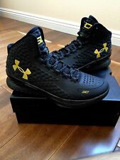 Under Armour UA Curry 1 One Banner Black Gold Stephen Banner Size MVP Home